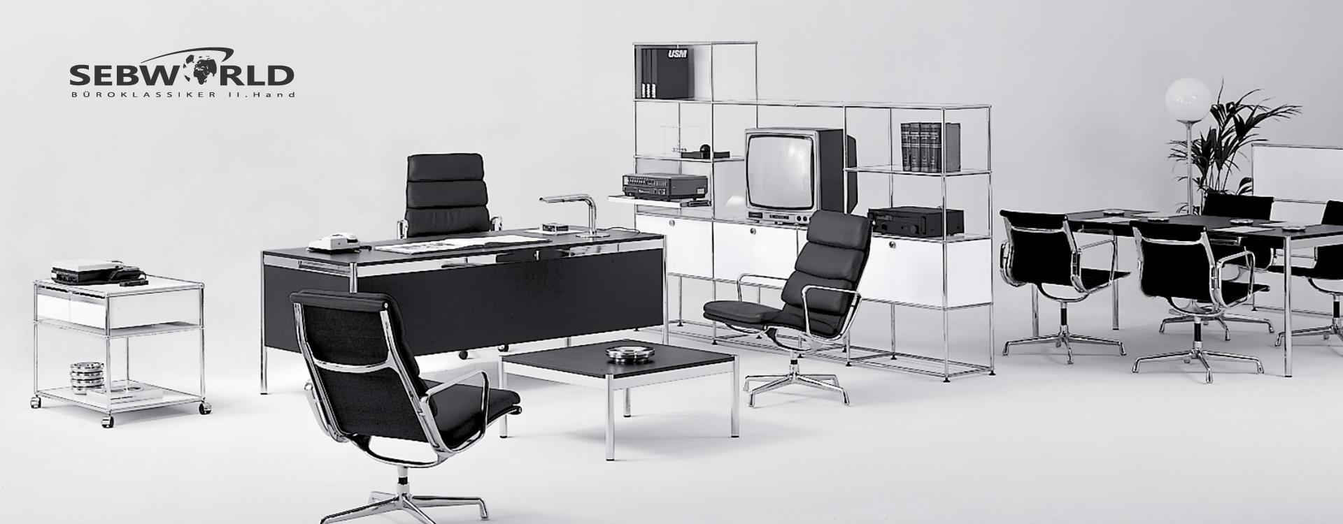 Layout und Konzept auf Shopware 5 der E-Commerce-Agentur: BS-Style GmbH. Darstellung einer Inneneinrichtung mit Designklassikern.